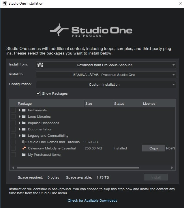 Melodyne installerad i Studio One.jpg