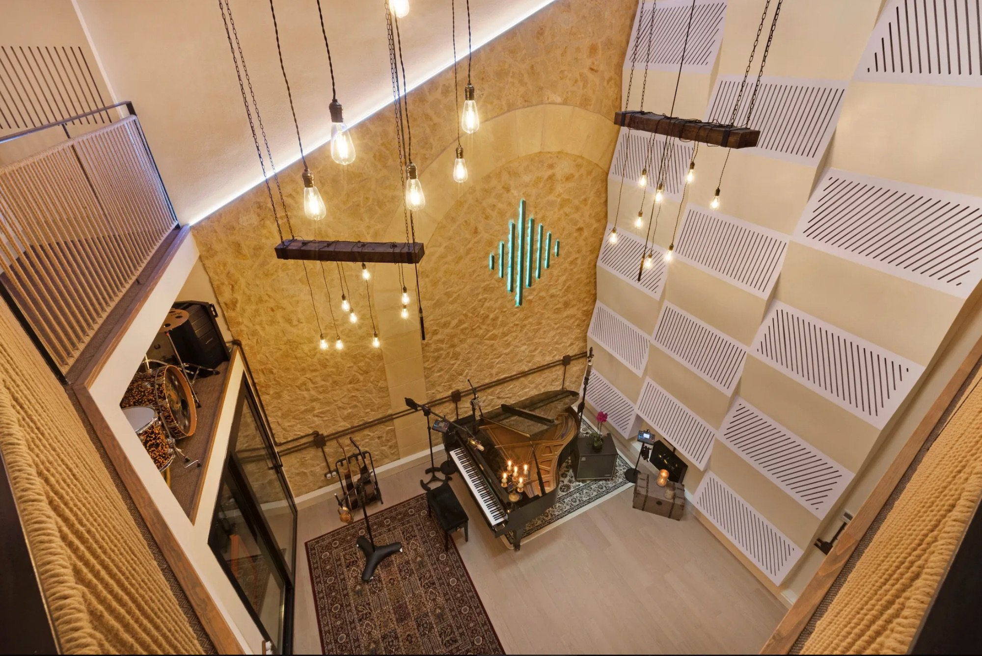 Palma Music Studios del3: Formgivning och interiör